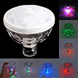 Woolf's House 4 LED Color Changing Floating Underwater Disco Light Glow Show Swimming Pool Hot Tub Spa Lamp