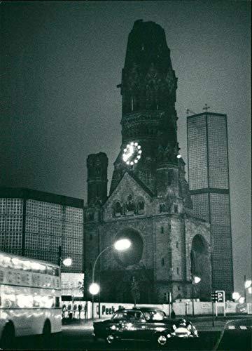 Vintage photo of Berlin: Memorial Church: Kaiser Wilhelm Memorial Church.
