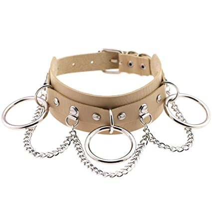 c0bfc2a4747db Amazon.com: DeemoShop Sexy Vegan Choker Punk Goth Collar Chain Belt ...