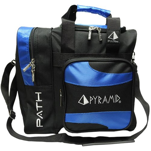 Pyramid Path Deluxe Single Tote - Black/Royal Blue
