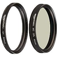 AmazonBasics UV Protection Lens Filter and Circular Polarizer Lens Set - 52 mm
