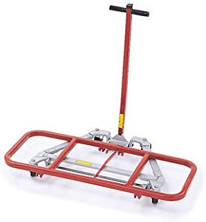 "product image for Desk Lifter With 4"" Casters Red/Gray Paint Dimensions: 25""W X 33""D X 6""H Weight: 47 Lbs"