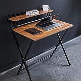 JIWU 2-Style Folding Desk for Small Space, Home Corner Desks Simple Computer Desk with Shelf, Folding Laptop Table