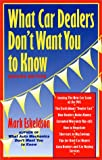 What Car Dealers Don't Want You to Know, Mark Eskeldson, 0964056054