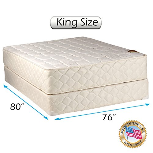 (Grandeur Deluxe Gentle Firm 2-Sided King Mattress and Box Spring Set with Mattress Cover Protector Included - Fully Assembled, Orthopedic, Luxury Height, Longlasting by Dream Solutions USA)