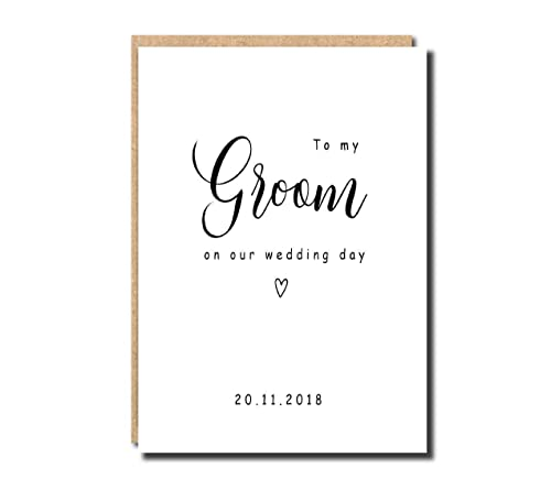 To My Groom on Our Wedding Day Card Wedding Card for Husband 0099 Wedding Card to Your Bride DIY I Can/'t Wait to Merry You Card