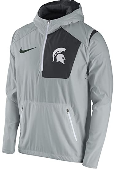 Michigan State Spartans Nike 2016 Sideline Vapor Fly Rush Half-Zip Pullover  Jacket (3X