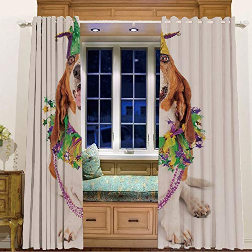 Rings top Window Panels Blackout Curtains for Kids Room 2 Curtain Panels,84