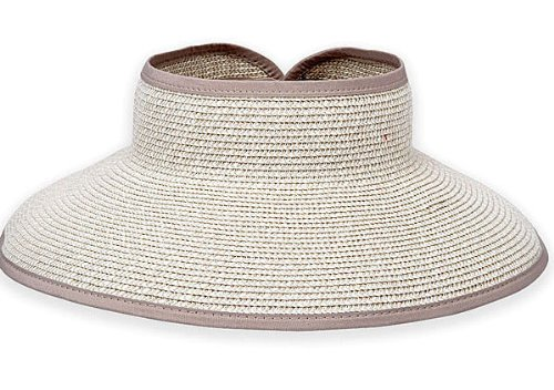 SNS Wide Brim Roll-up Sun Visor Hat (Natural Mix) 0089740335