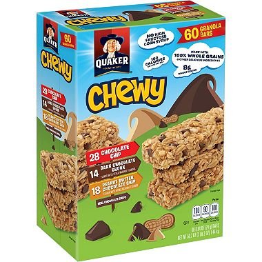 Quaker Chewy Variety Pack 0.84 oz, 60 pk. (pack of 4) A1 by Chewy.com