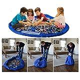 CHICIEVE Toy Storage Bag,Child Waterproof Foldable Rug Play Mat Toy Storage Bag Drawstring Organizer 59Inch Kids Play Mat 150CM (Blue)