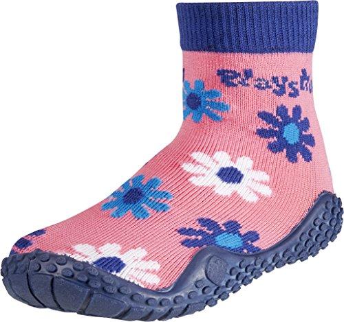 Playshoes Aqua Socken, Badesocken Veilchen, Zapatos de Playa y Piscina Unisex Niños Multicolor (Black)