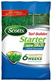 Scotts Turf Builder Lawn Food – Starter Food for New Grass Plus Weed Preventer, 5,000-sq ft (Starter Lawn Fertilizer Plus Crabgrass, Dandelion & Weed Preventer) (Not Sold in FL)