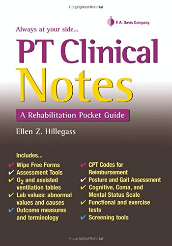 Pt Clinical Notes:Rehab.Pocket Guide