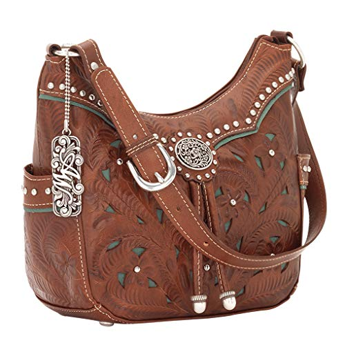 Turquoise West Purse Lady Shoulder Holder Handbag Hobo Bundle Lace American Leather BCZqq