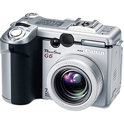 amazon com canon powershot g6 7 1mp digital camera with 4x optical rh amazon com Canon G6 Raw Canon PowerShot G6