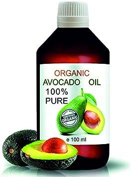 Aceite Ecológico de Aguacate 100 ml Comercio Justo 100% Natural Prensado en Frío Aceite de Masaje Vegetal 100% Natural