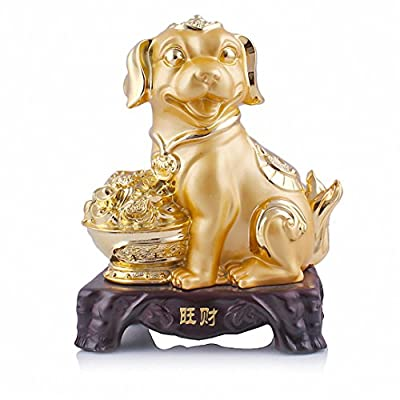Large Size Chinese Zodiac Golden Resin Collectible Figurines Table Decor Statue