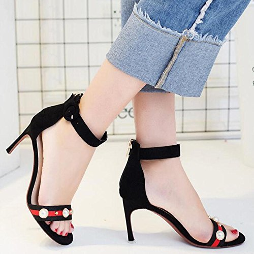 new sandals Sexy Black high heel Shoes 2017 Womens Fashion Black BxOW8wndv