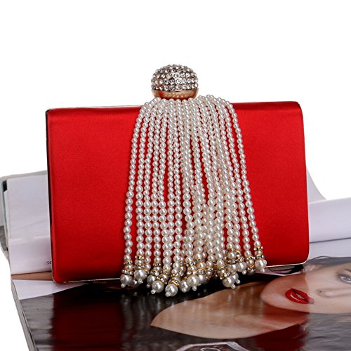 Evening Bag Wedding Purse Crystal Red For Evening Wedding Bag Prom Women's Bridal Party Bridal Diamond 7qOxp8