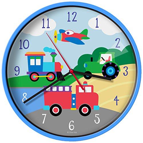 Truck Clock - New Olive Kids Trains, Planes, Trucks Wall Clock