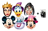 *Mask Pack* Mickey Mouse and Friends Halloween Face Masks Set of 6 (Mickey, Minnie, Donald, Ursula, Wicked Witch and Wicked Queen) - Includes 6X4 (15X10Cm) Star Photo - Mask Pack #19