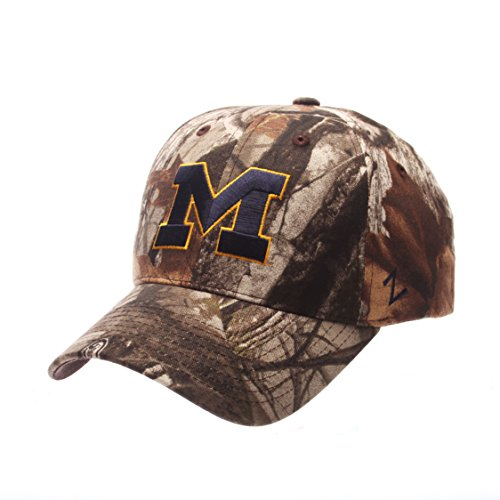 NCAA Michigan Wolverines Men's Staple Cap, Adjustable, Camouflage - Michigan Wolverines Camo