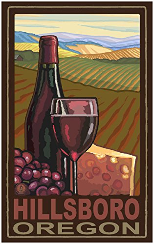 Hillsboro Oregon Wine Country Travel Art Print Poster by Paul A. Lanquist (30