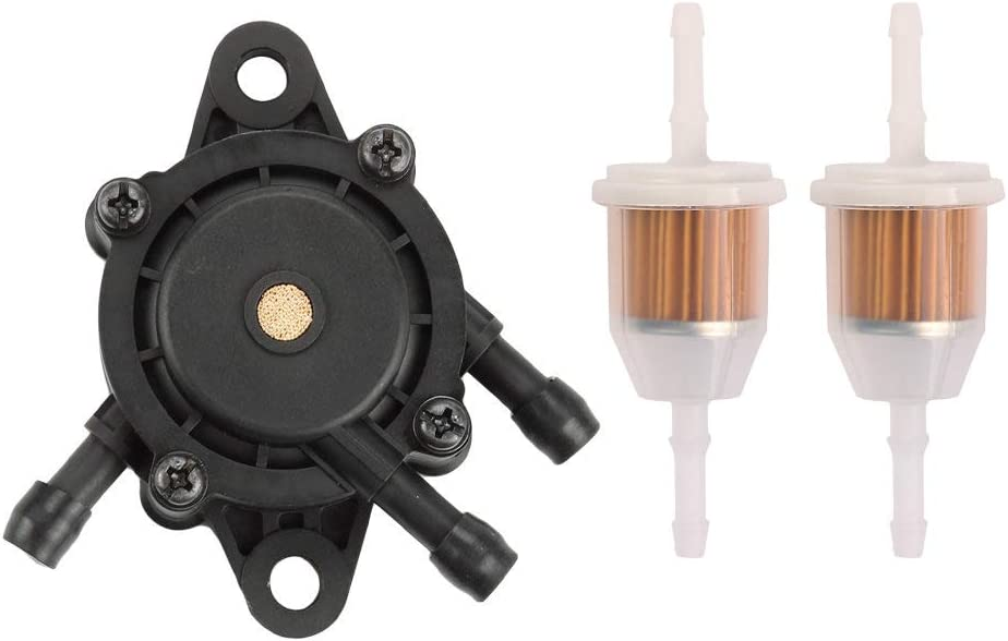 Buckbock 24 393 04-S Fuel Pump for Kohler 24 393 16-S Briggs & Stratton 491922 808656 John Deere L107 L108 X125 X145 X140 X110 X120 L105 LA120 LA130 LA135 LA145 with Fuel Filter