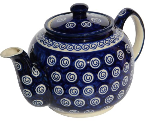 polish pottery teapot with warmer - 6