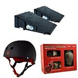 Landwave Skateboard Ramp 2-Pack with Triple 8 Helmet and Pad Set