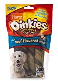 Hartz Oinkies Natural Smoked Pig Skin Twist Beef Wrapped Dog Treat Chews – 8 Pack