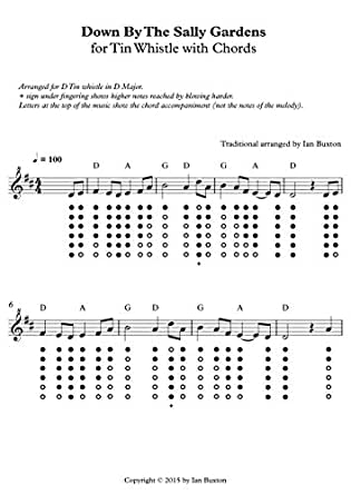 Amazon.com: Down By The Sally Gardens for Tin Whistle with Chords ...