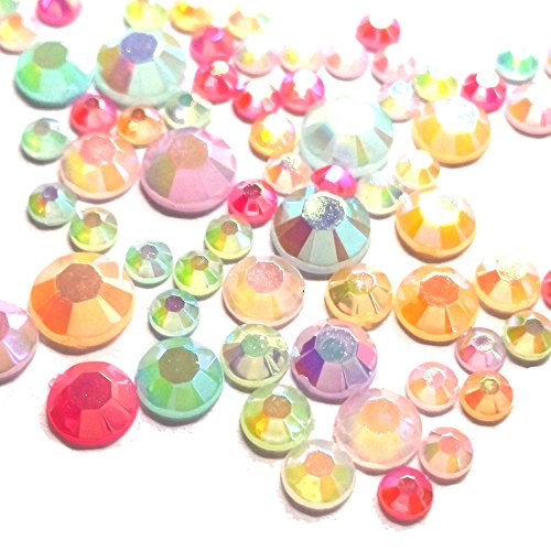 1000 Mixed Color & Size AB Jelly Rhinestone 3,4,5,6mm Flatback Decor Nail Artship with samples from GreatDeal68