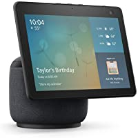 Echo Show 10 (3rd Gen) | HD smart display with motion and Alexa | Charcoal photo
