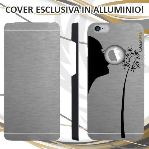 CUSTODIA COVER CASE CASEONE SOFFIO FIORE PER IPHONE 6S ALLUMINIO TRASPARENTE