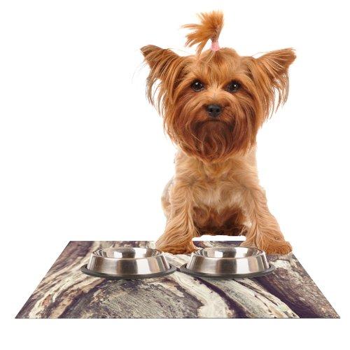 Kess InHouse Catherine McDonald Bark  Feeding Mat for Pet Bowl, 18 by 13-Inch