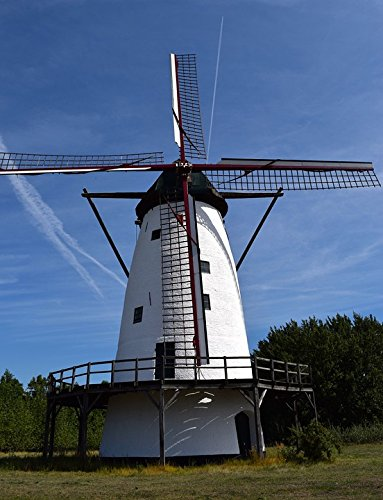 Home Comforts Peel-n-Stick Poster of Mill Wind Power Don Quijote Wing Windmill WindPoster 24x16 Adhesive Sticker Poster Print