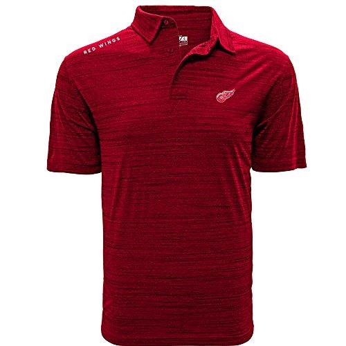 - Levelwear Adult Men Sway Wordmark Polo, Heather Fire Red, XX-Large