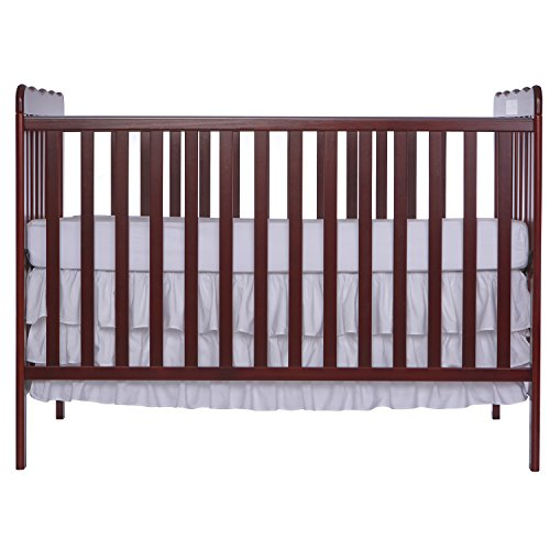 Dream On Me, Classic 3 in 1 Convertible Crib, Cherry