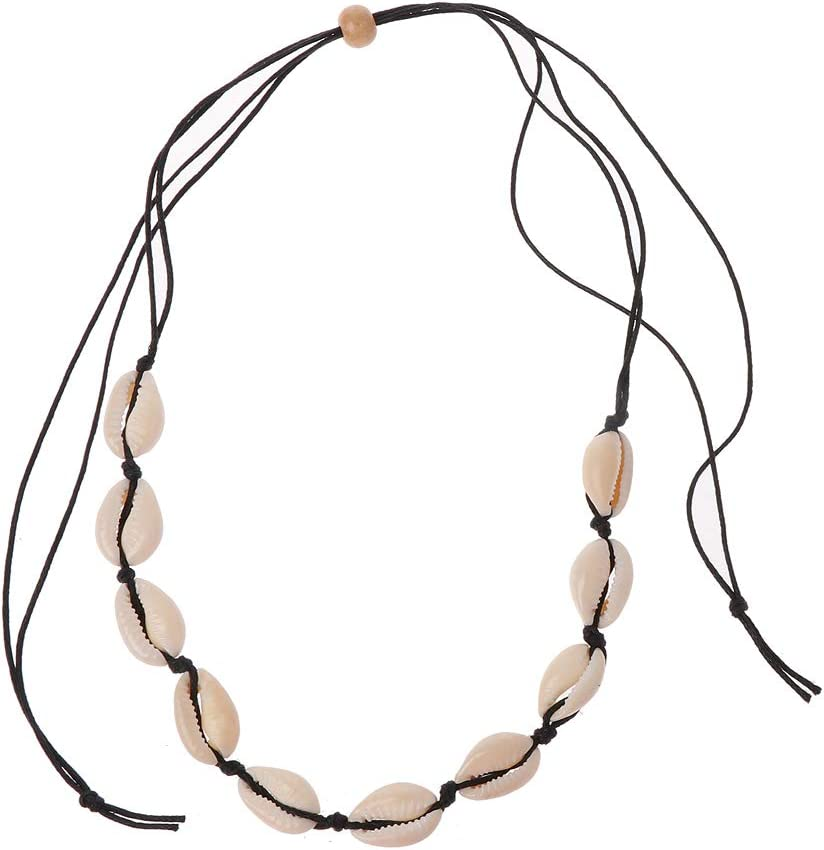 YO-HAPPY Dual-Use nat/ürliche Muschel Choker Halskette Armband handgefertigten Strand Boho Schmuck