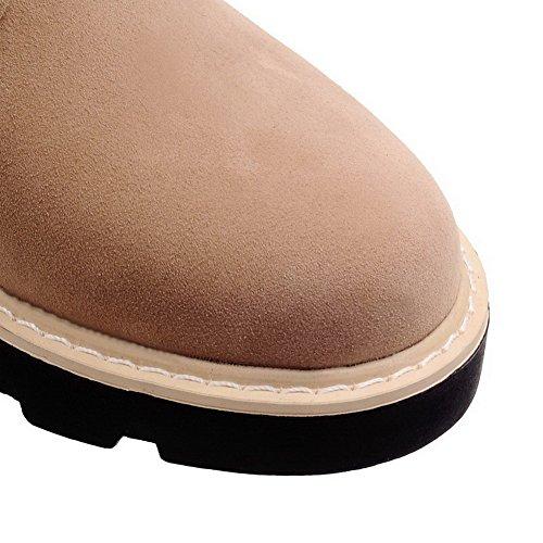 Donna Basso Da Sandali Tacco Lacci Smerigliato Punta Tonda Con E A Agoolar Albicocca p4qap
