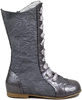 Guxs Bota Pascuala Nina Alta En Piel Charol Gris Y Ante Brocado Color Gris Talla 30 Amazon Es Zapatos Y Complementos