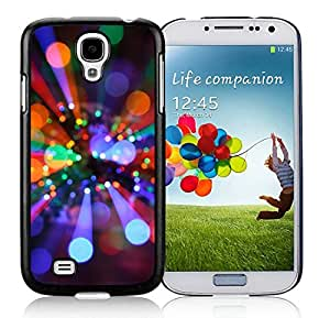 Customized Portfolio Samsung S4 TPU Protective Skin Cover Christmas Lights Black Samsung Galaxy S4 i9500 Case 1 wangjiang maoyi