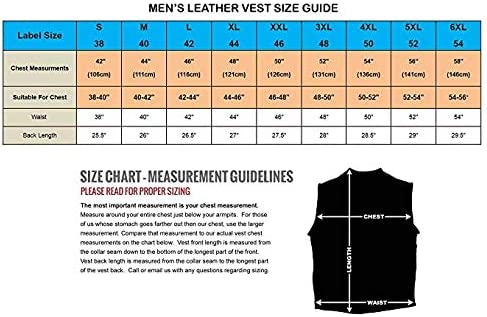 Americanfinestsports Mens Real Leather Biker Style Waistcoat Genuine Leather Motorcycle Vest Lacing ES6008