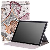 Microsoft Surface Pro 4 Case - MoKo Ultra Slim Lightweight Smart-shell Stand Cover Case for Microsoft Surface Pro 4 12.3 inch Tablet, Map A