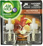 Air Wick Scented Oil Plug In Air Freshener, National Park Collection, Isle Royale Sugar Maple and Hazelnut Crisp Scent, Double Refill, 0.67 Ounce