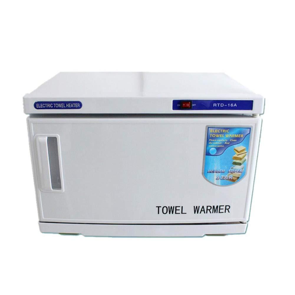 2 en 1 16L UV Esterilizador Toallas Toalla Calentador Ultravioleta Esterilizador Gabinete, Facial Piel Cuidado SPA Belleza Salón Desinfección Equipo, ...