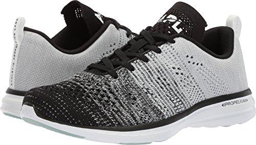 APL: Athletic Propulsion Labs Women's Techloom Pro Sneakers, Black/Heather Grey/White, 8.5 M US
