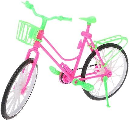 Exing - Bicicleta de muñeca, minibicicleta Barbie para muñecas ...